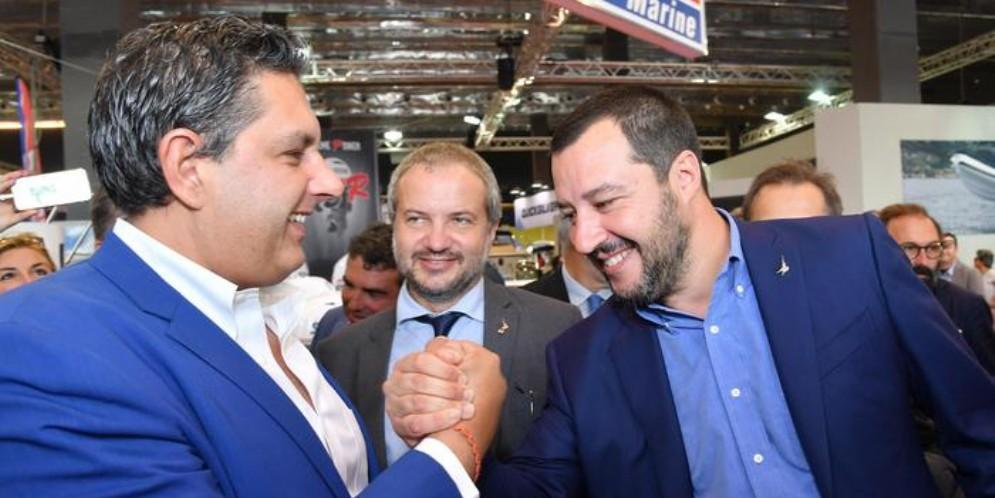 Giovanni Toti e Matteo Salvini