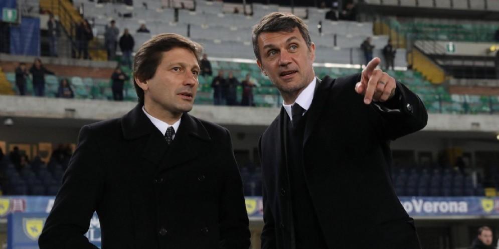 Leonardo e Paolo Maldini: responsabili dell'area tecnica del Milan