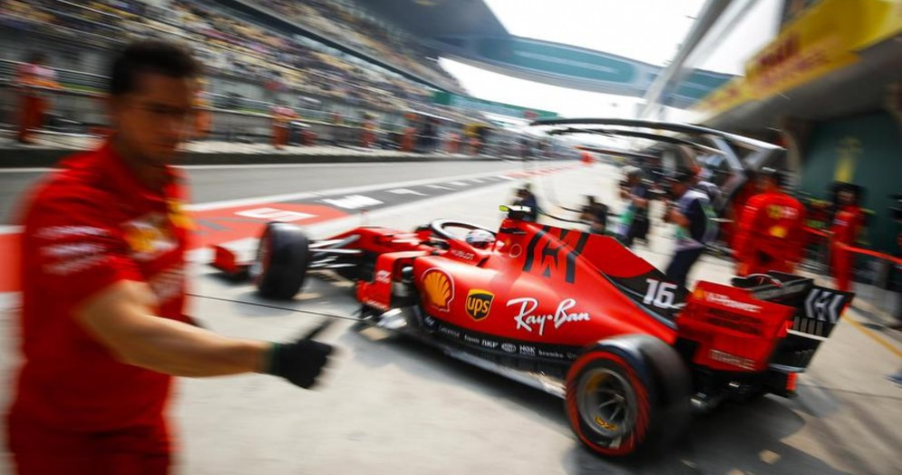 Charles Leclerc sulla Ferrari 2019