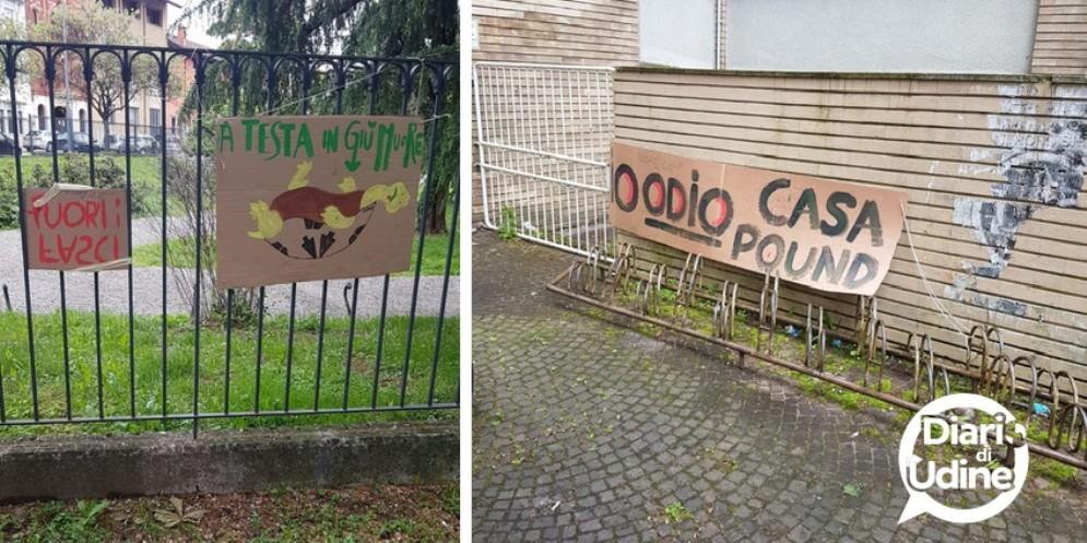 CasaPound apre la nuova sede in città: la protesta degli antifascisti