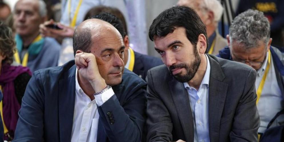Nicola Zingaretti e Maurizio Martina