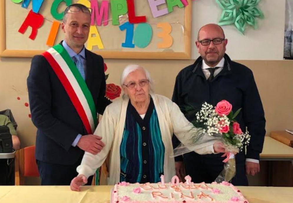 Rina Collinassi ha spento 103 candeline a La Quiete