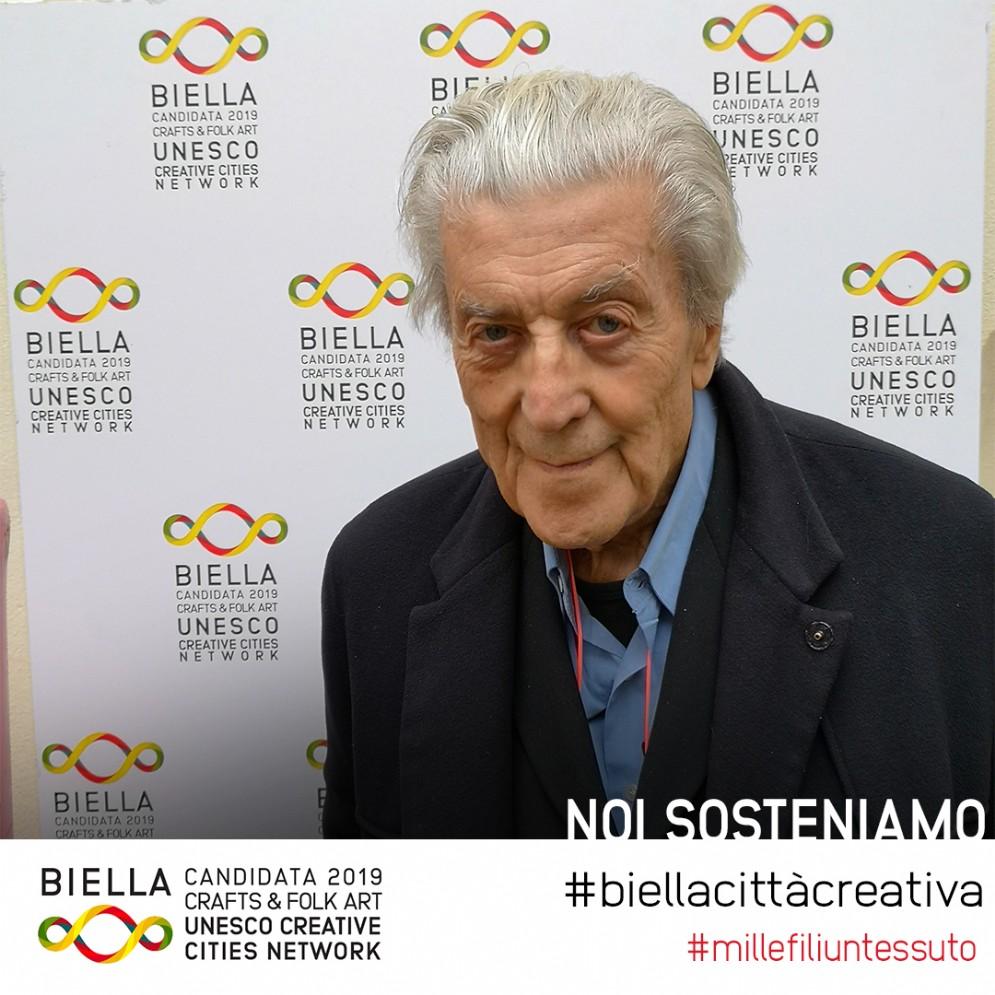 Nino Cerruti, stilista biellese tra i più attivi sostenitori della candidatura