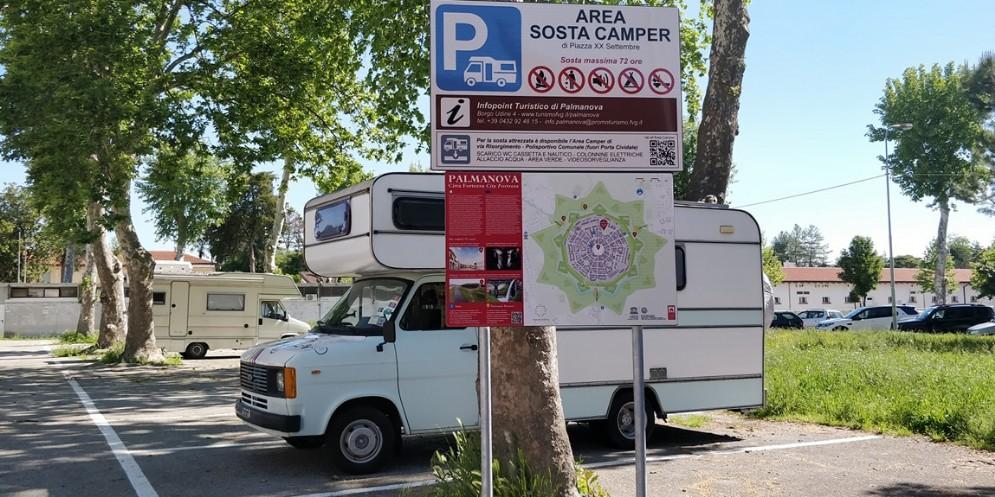 Palmanova si attrezza per accogliere i turisti del camper