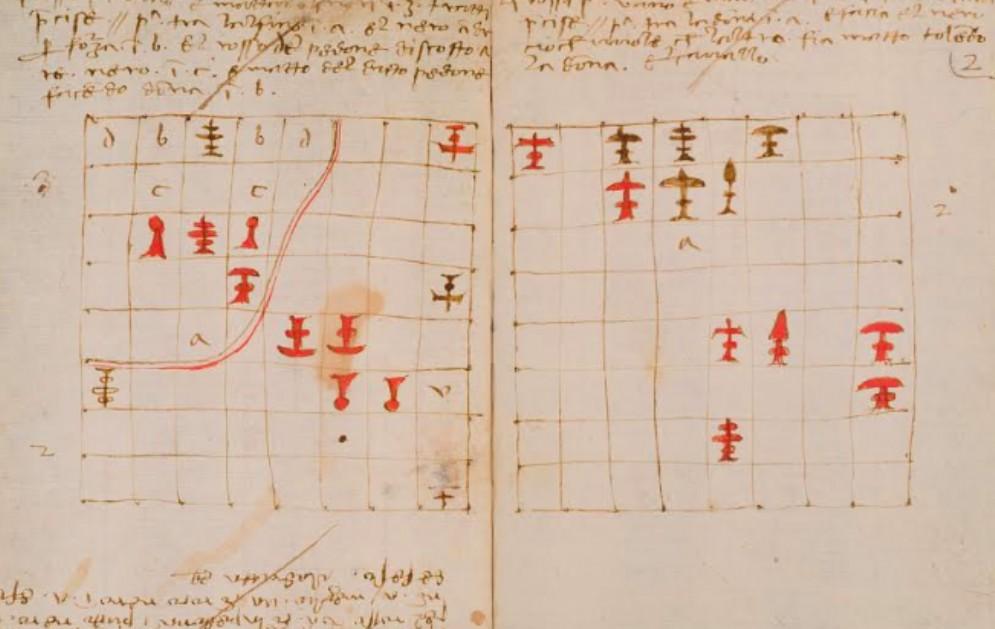 Leonardo da Vinci: esposto il manoscritto sugli scacchi