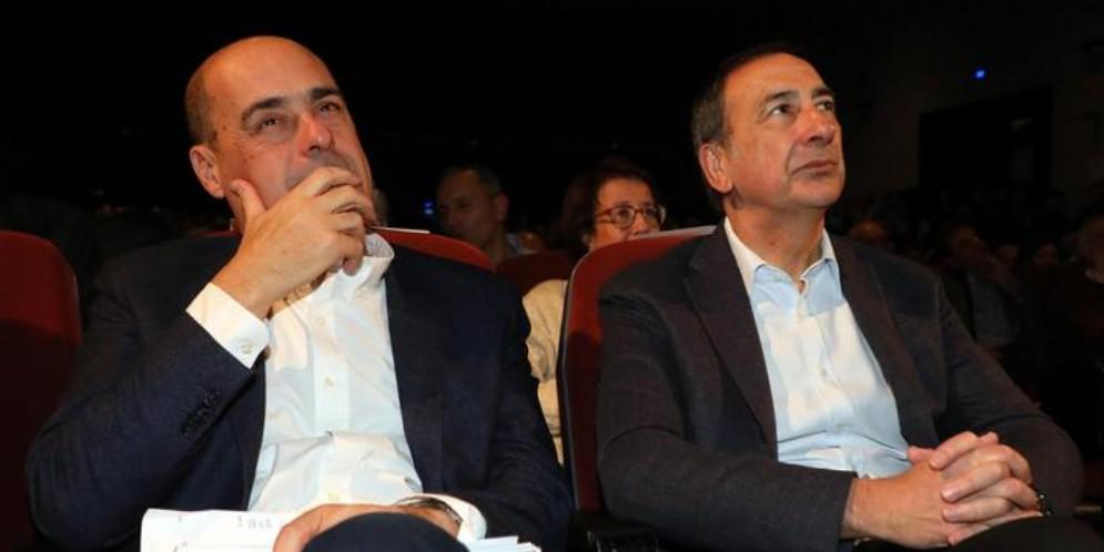 Nicola Zingaretti e Beppe Sala