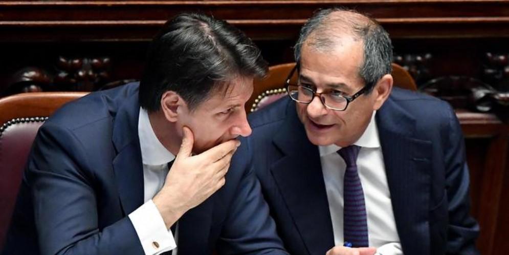 Il Premier Giuseppe Conte con il Ministro, Giovanni Tria