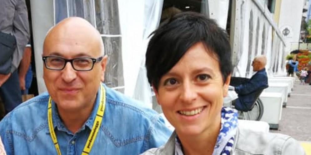 Piero Mantero insieme a Irene Giurovich