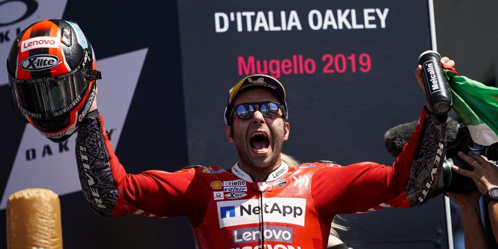 Danilo Petrucci sul podio del Mugello