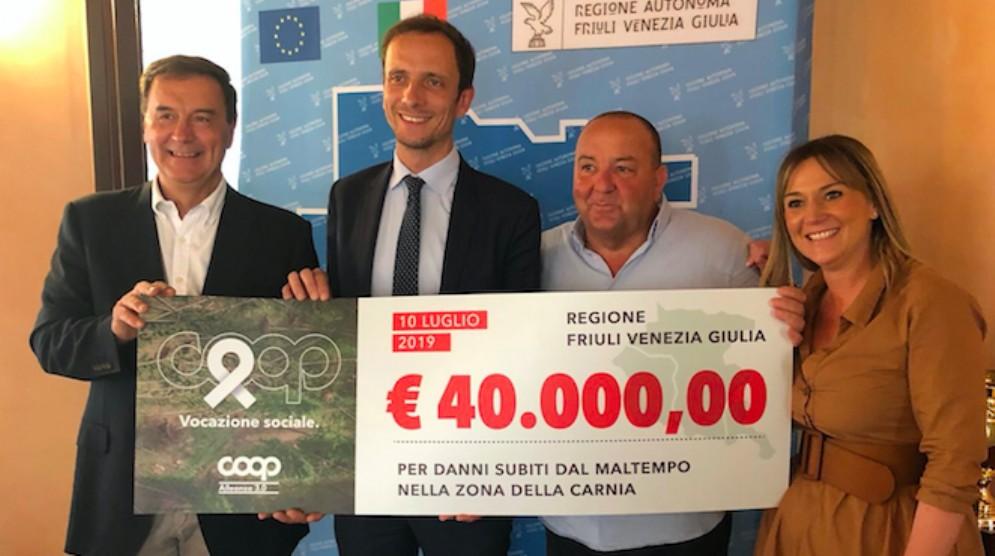 Maltempo: 40 mila euro da Coop Alleanza 3.0 per la ricostruzione