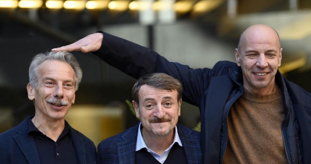 Da sinistra: Giovanni Storti, Giacomo Poretti e Aldo Baglio