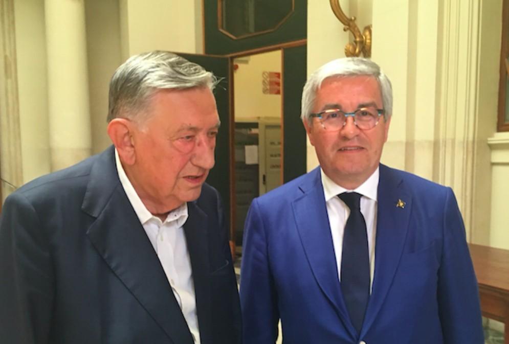 L'ex sindaco Bressani festeggiato in Comune per i suoi 90 anni
