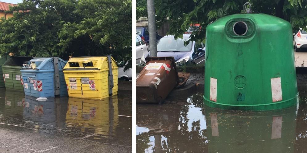 Pioggia e vento: allagamenti e disagi in città e nell'hinterland