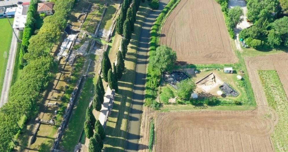 Scoperto un deposito di anfore romane per allume ad Aquileia