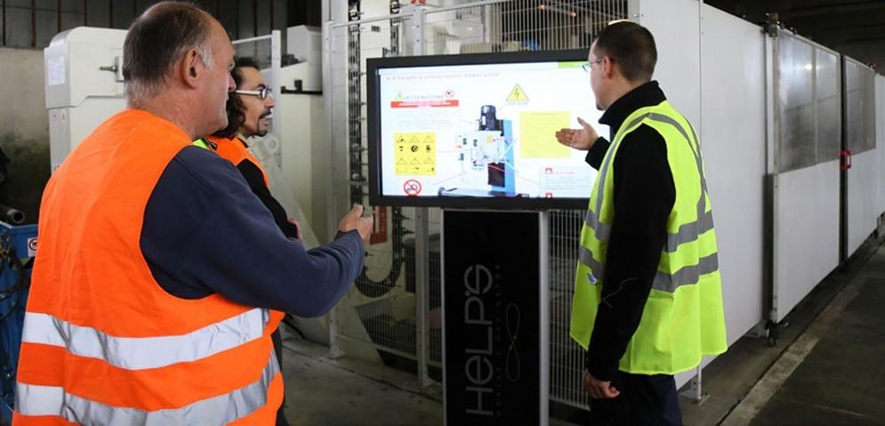 Il sistema Help's installato in una Azienda meccanica biellese