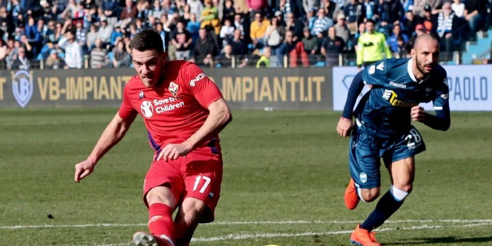 Jordan Veretout, centrocampista francese della Fiorentina, obiettivo di mercato del Milan
