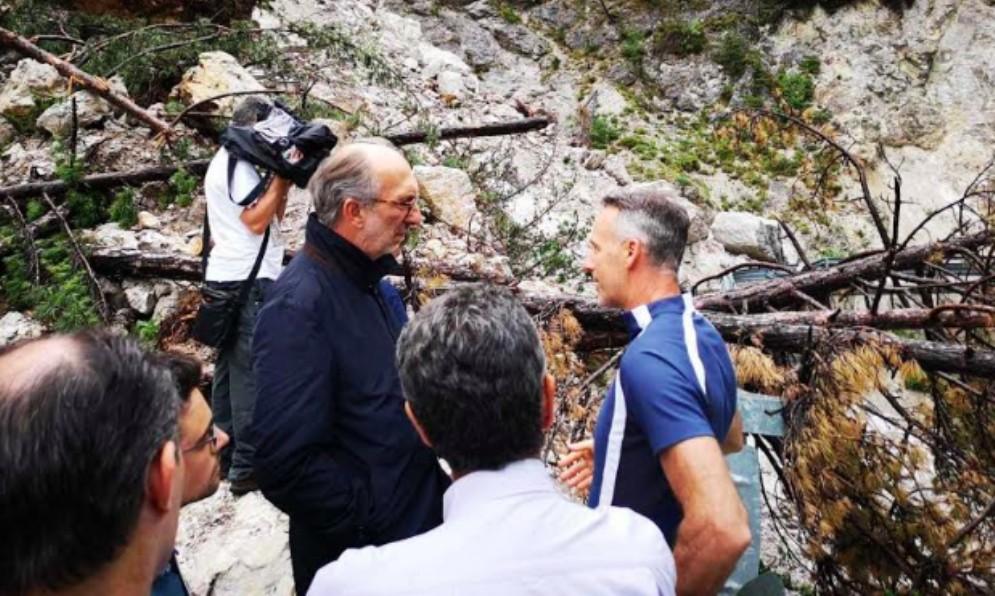 Viabilità in Val Dogna: la Regione pensa a 'far brillare' il fronte franoso
