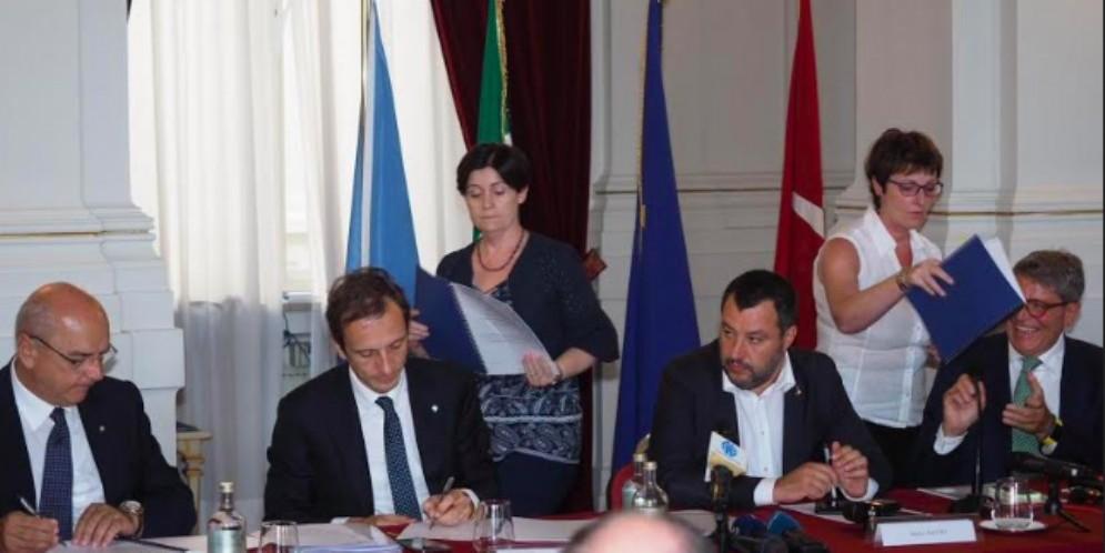 Fedriga e Salvini: «Garantiamo chi investe e riduciamo i clandestini»