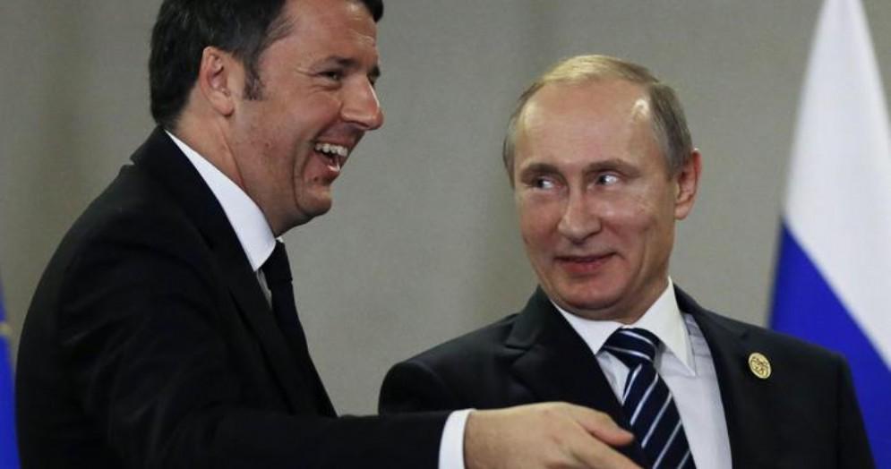 Matteo Renzi con il Presidente russo, Vladimir Putin