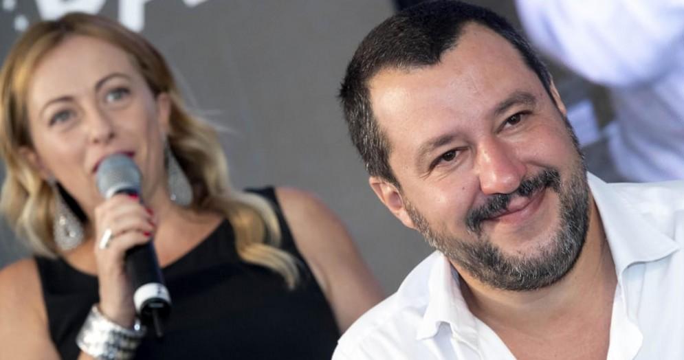 Giorgia Meloni e Matteo Salvini ad Atreju 2018
