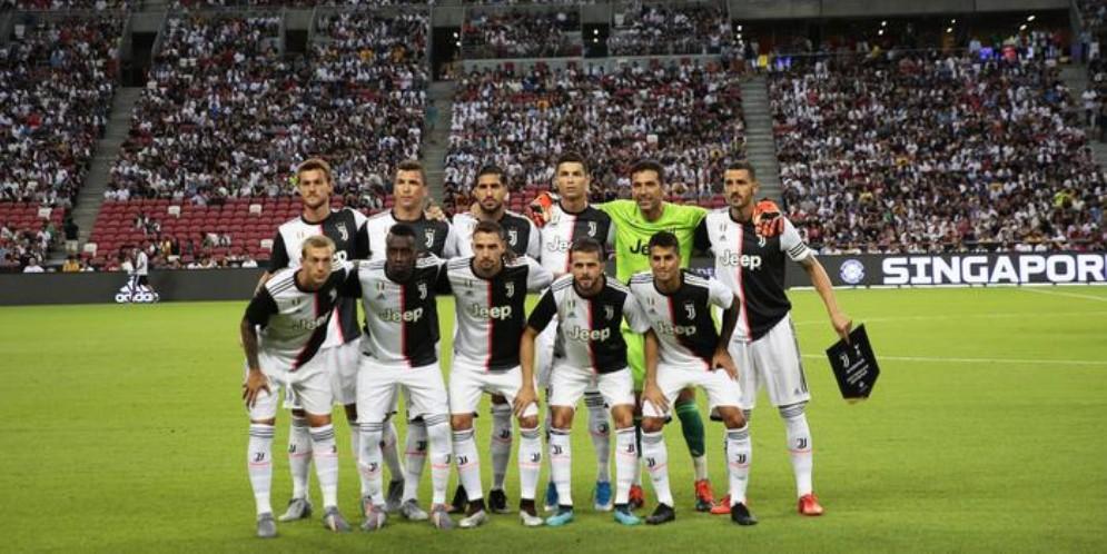 La formazione della Juventus prima dell'amichevole con il Tottenham