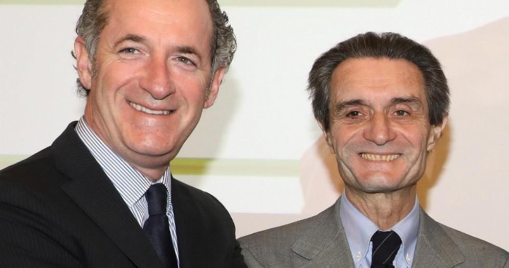 Luca Zaia e Attilio Fontana, presidenti delle regioni Veneto e Lombardia