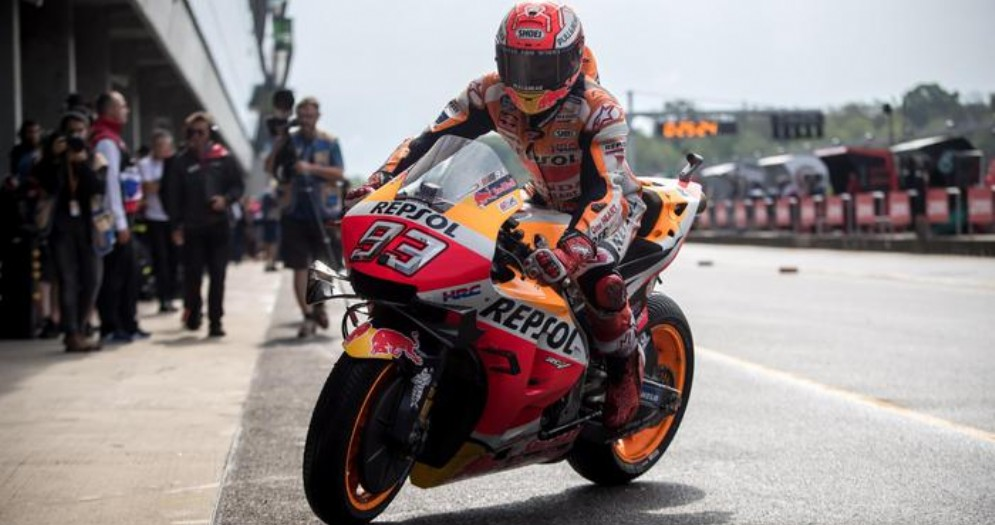 Marc Marquez in pole a Brno