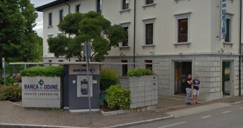 Rapina a mano armata alla Banca di Udine
