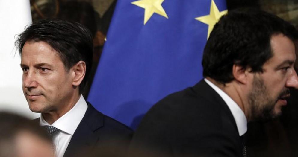 Il Premier Giuseppe Conte con il Ministro Matteo Salvini
