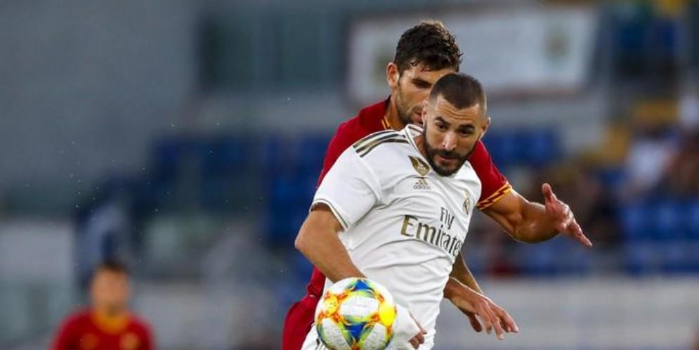 Un momento dell'amichevole Roma - Real Madrid