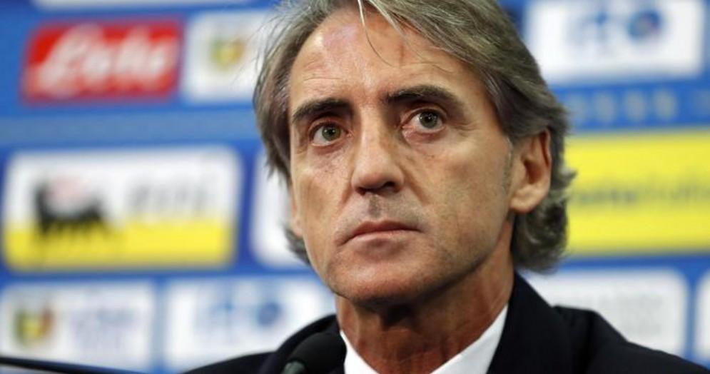 L'allenatore della nazionale, Roberto Mancini