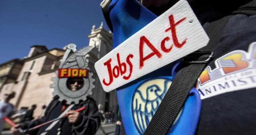 Manifestazione contro il Jobs Act
