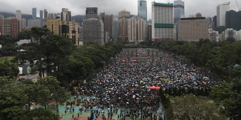 Manifestazioni di piazza a Hong Kong