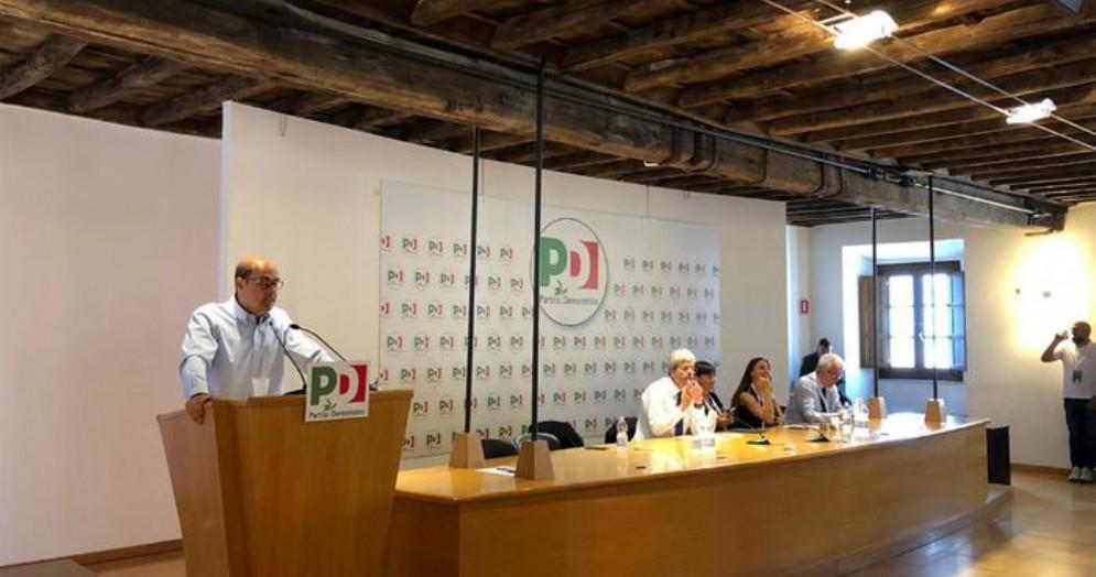 Nicola Zingaretti alla Direzione Nazionale del PD