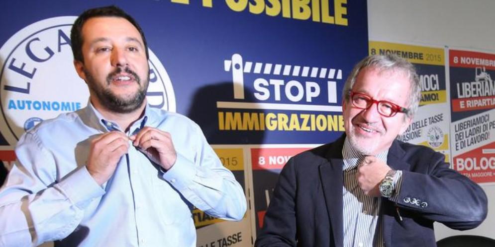 Matteo Salvini con Roberto Salvini