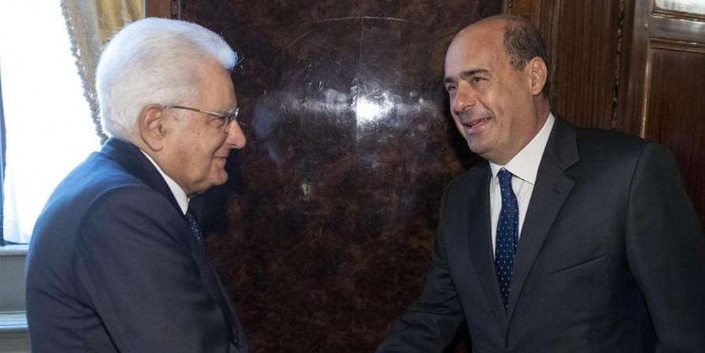 Nicola Zingaretti al Colle per le consultazioni con Sergio Mattarella
