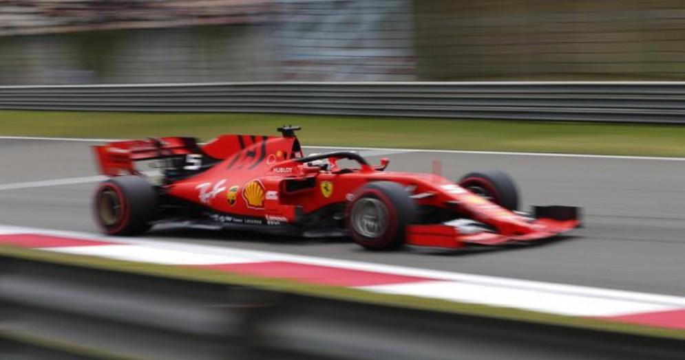 Sebastian Vettel sulla Ferrari
