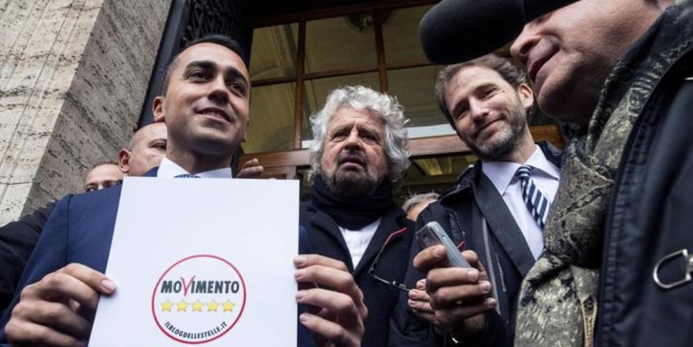 Luigi Di Maio, Beppe Grillo e Davide Casaleggio