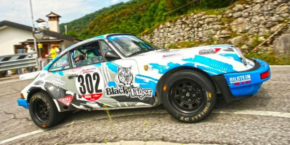 Il 24° Alpi Orientali Hisoric a Lucio DA Zanche su Porsche 911Sc