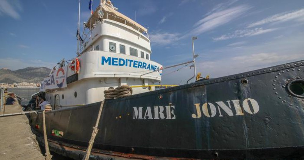 La nave «Mare Jonio»