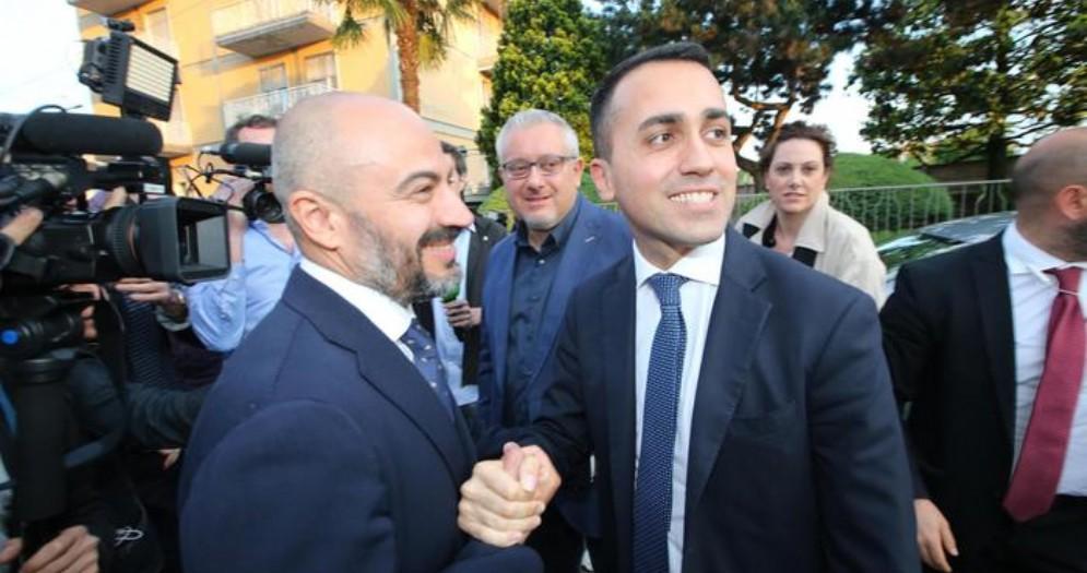 Gianluigi Paragone con Luigi Di Maio