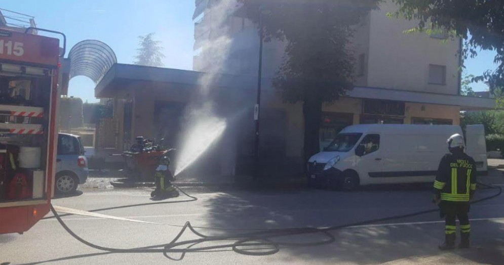 Fuga di gas nel centro di Codroipo: intervengono i Vigili del Fuoco