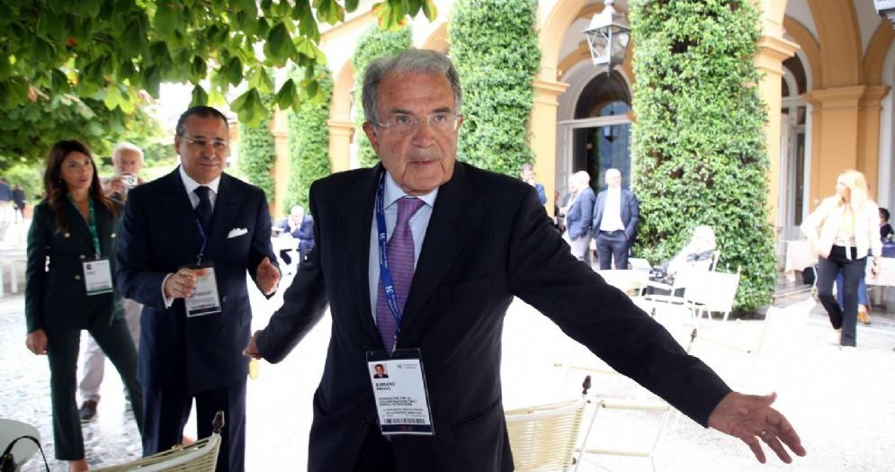 Romano Prodi in occasione del forum Ambrosetti