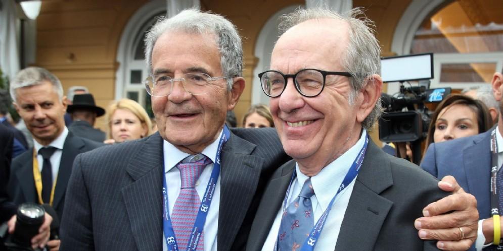 Romano Prodi e Piercarlo Padoan al Forum Ambrosetti 2019
