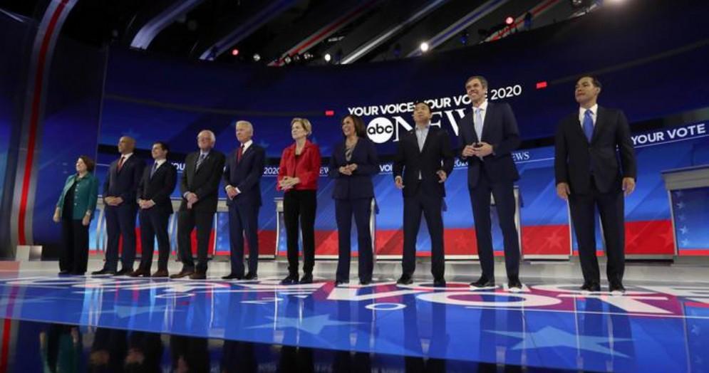 I protagonisti del terzo dibattito Dem