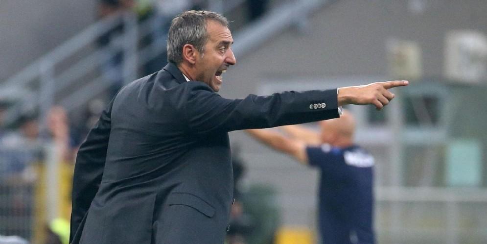 L'allenatore del Milan Marco Giampaolo