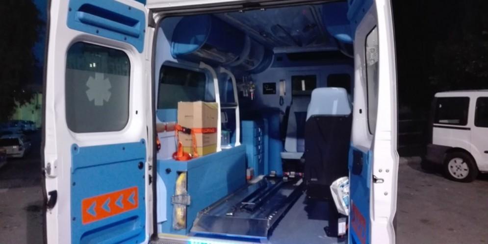 Interno di un'ambulanza