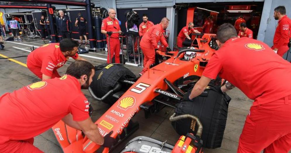 La Ferrari numero 5 di Sebastian Vettel