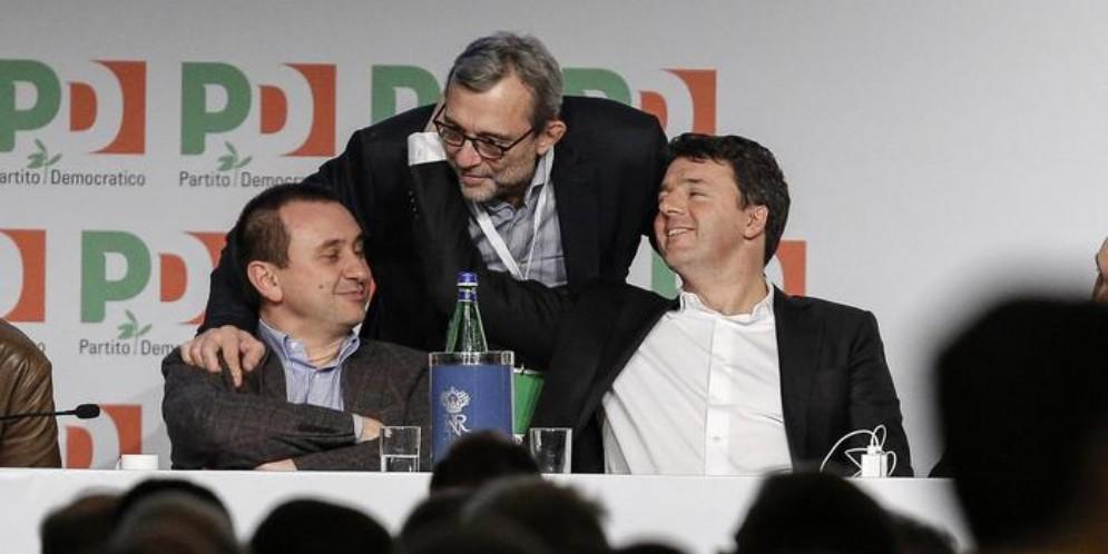 Rosato, Giachetti e Renzi ai tempi del PD