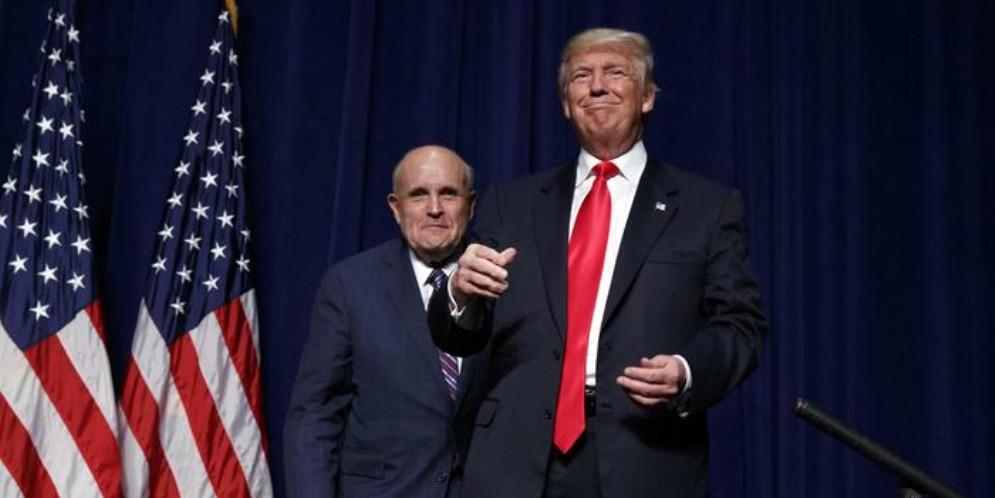 Donald Trump con il suo Avvocato, Rudy Giuliani
